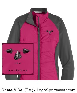 Port Authority Ladies Hybrid Soft Shell Jacket Design Zoom